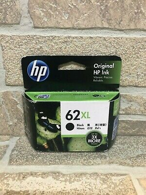 HP HP62XL genuine ink cartridge black NEW