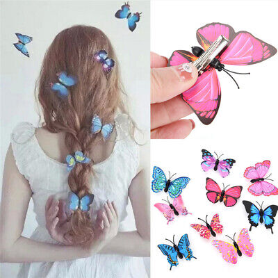 5Pcs Mini Butterfly Hair Clips Wedding Hairpin Headpiece Barrette Accessory g