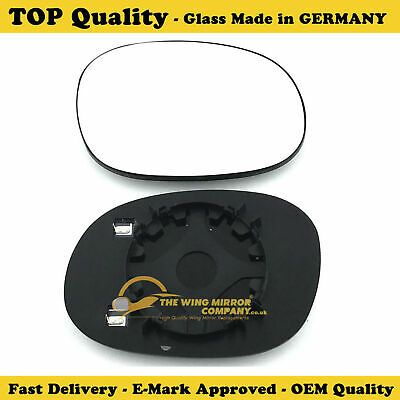 Left Passenger side Flat Wing mirror glass for Citroen C3 2010-16 heated plate
