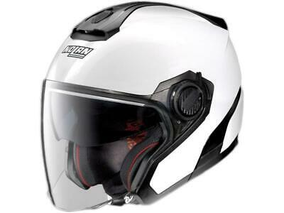 CASCO JET NOLAN N21 CARIBE 024 SCRATCHED CHROME SILVER SPAZZOLATO MOTO SCOOTER