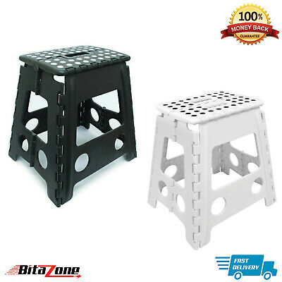 Multi-Purpose Heavy Duty Plastic Folding Step Stool Seat Home Kitchen Storage