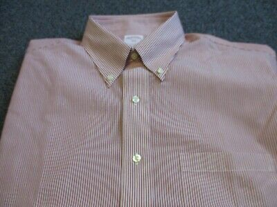 New Nwt Mens Brooks Brothers Non-Iron Button Down Shirt Size 16.5-36/37