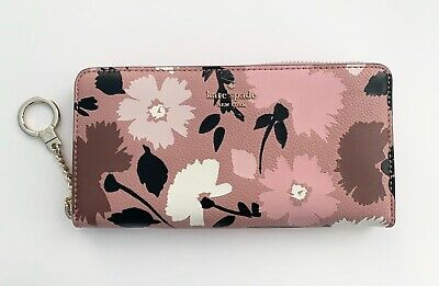 Kate Spade New York Briar Lane Floral Neda KeyRing Zip-Around Continental Wallet