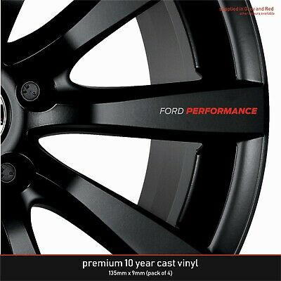 Ford Performance Premium 10 Year Cast Vinyl Decals Stickers x 4