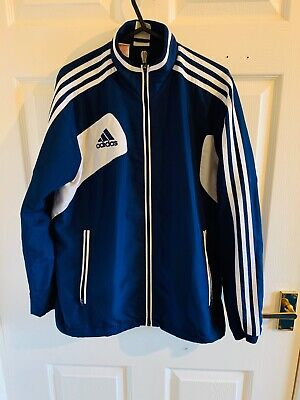 Blue & White Adidas Tracksuit Top Age 13/14 (4395)