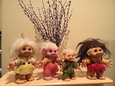 Vintage Troll Dolls, set of 4