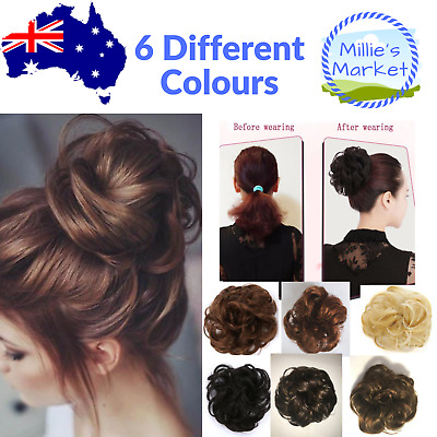 Natural Messy Bun Scrunchie - Hair Piece Curly Chignon Updo Hair Extension
