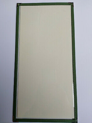 2/3 A4 cafe bistro menu cover--single panel--Green