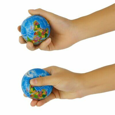 World Map Foam Earth Globe Stress Relief Bouncy Ball Atlas Geography Toy TH092 d