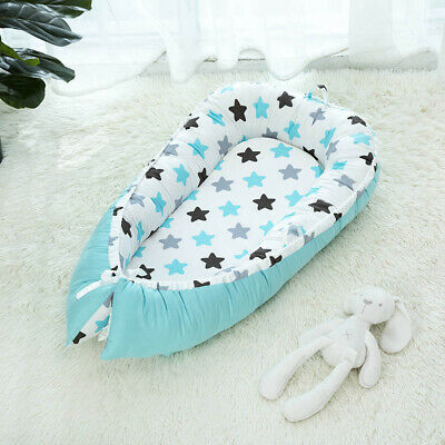 Travel Baby Lounger Newborn Infant Baby Bed Portable Pillow 0-3 Years Old Green
