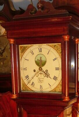 "Antique Mahogany  ""Jersey""  Automation  Windmill  Longcase / Grandfather Clock"