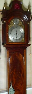 "Antique  Mahogany  "" London ""  Pagoda Hood   Longcase / Grandfather Clock"