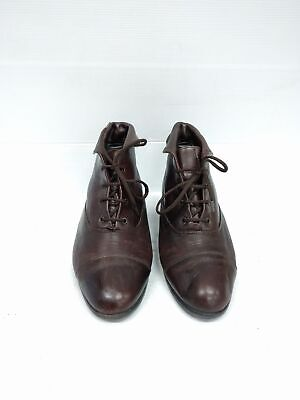 Sz 6 or 6.5 Vintage 90s Pixie Grunge Dark Brown soft leather lace up ankle boots