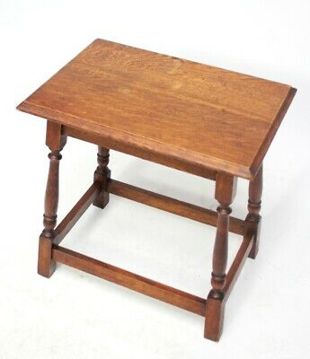 Vintage English Oak Joint Stool - FREE Shipping [5979]