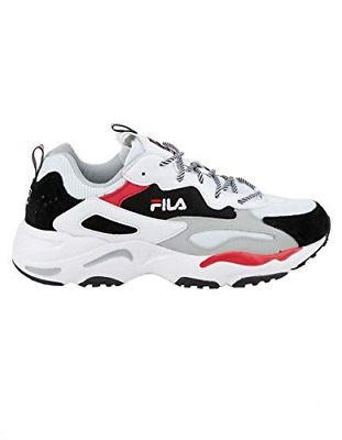 NEW LIMITED EDITION Mens Fila Ray Tracer White Black Red