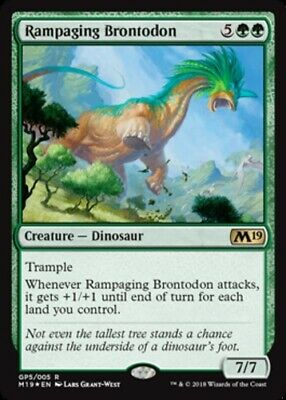 Gift Pack 2018-Unique /& Misc Pr English-Rampaging Brontodon MTG-1x-Light Play