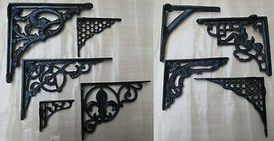 BLACK CAST IRON SHELF BRACKET wall cistern toilet sink metal vintage retro