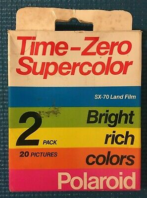 Polaroid Time Zero Supercolor SX-70 Land Film - 2 Pack - 20 Pictures - Exp 1987