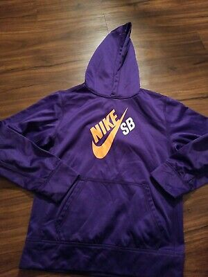 Nike Therma Fit Hoodie Girls Youth Large Purple