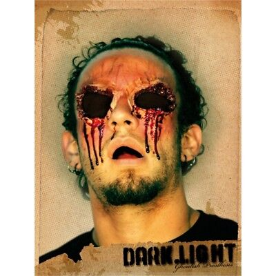 Prosthetic Wounds Dark Light, No Eyes - Halloween Application Rubber Blinded