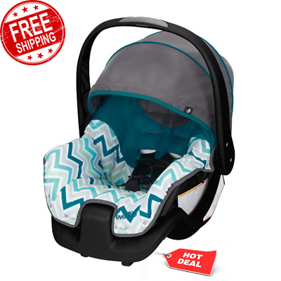 Infant Car Seat, Max Toddler Grey Baby Ship Comfort Carry Canopy Handle Blue NEW