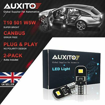 AUXITO T10 W5W 501 ERROR FREE CANBUS LED SIDE NUMBER PLATE LIGHT BULBS WHITE KA