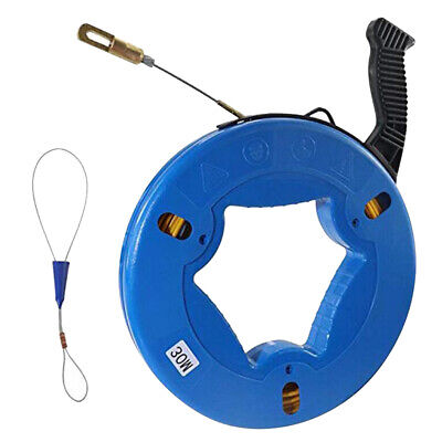 30MDurable Fiberglass Cable Conduit Rodder Fish Tape Puller for Electrician