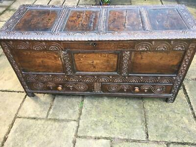 Stunning Antique Mule Chest - Early 18th Century