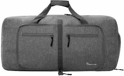 Duffel Bag 55L Packable Duffle Bag with Shoes Compartment Unisex Gray Travel Bag