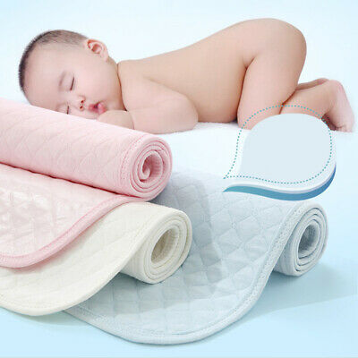 Baby Infant Eco Cotton Breathable Washable Reusable Nappy Mat Waterproof US