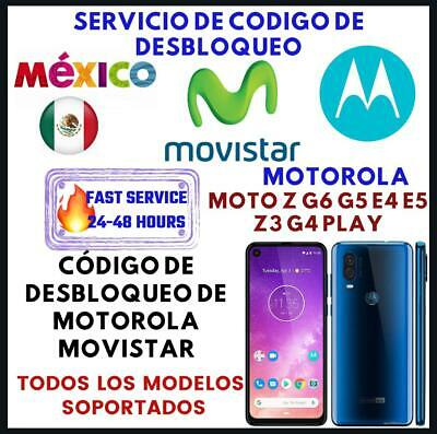 Movistar Mexico Unlock Code Motorola Moto G7 Plus Play One Vision E5 G6 Play