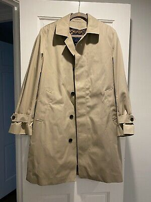Brooks Brothers Trench Coat Removable Wool Lining 40R Men's Beige Khaki $598