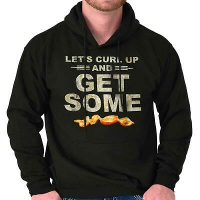 Lets Curl Up And Get Some Bacon Funny Meat Hooded Sweatshirts Hoodies For Men