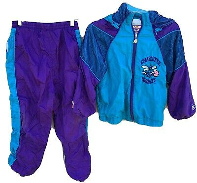 Vintage Mighty Mac Charlotte Hornets NBA Basketball Jacket & Pants (track suit)