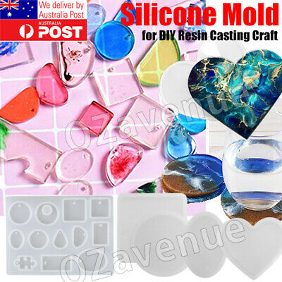 Multi Gem Silicone Mold Jewelry Making Epoxy Resin Pendant Mould Craft Tools