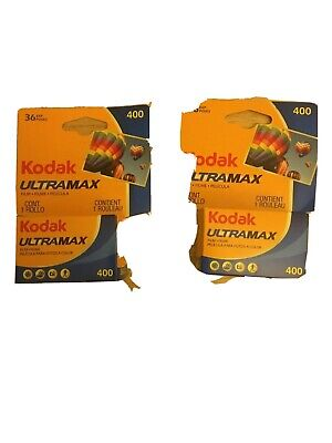 Kodak Ultramax 400 Color Print 35mm Film Two (2) Rolls Expired 10/2019 Sealed