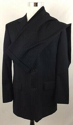 Brooks Brothers 1818 Madison Mens Blue Pinstripe Suit Made USA 40R 34w x 29