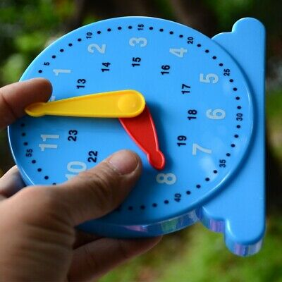 Kids Children Learn To Tell The Time Clock Shaped Educational Learning Toys