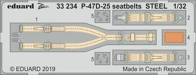EDUARD LÖÖK 634010 Dashboard /& Seatbelts for Eduard//Hasegawa® P-47D in 1:32
