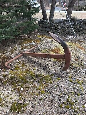 Ships anchor from 1880's As Found Beautiful Antique Nautical 5' Tall  Will SHIP!