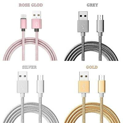 Heavy Duty Metal Braided USB Charger Cable for SAMSUNG & ANDROID PHONE-1,2,3 M