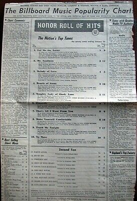 Billboard Magazine Music Charts for February 5, 1955