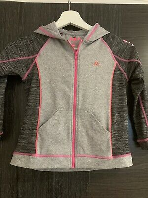 Next Girls Sports Hoody Grey And Pink, Age 7-8 Years