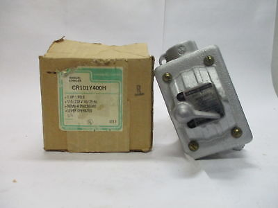 GE CR101Y400H 1HP 1Pole NEMA 4 Enclosure Manual Starter Lever Operated 115/230V