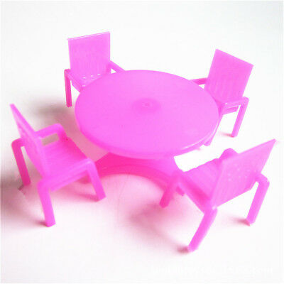 Plastic Kids Simulation Dollhouse Table Chair Sand Table Furniture For  AtPjf