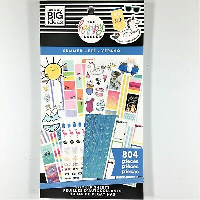 The Happy Planner Summer Sticker Book Pack Of 804 Me & My Big Ideas