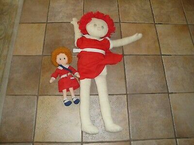 Lot LITTLE ORPHAN ANNIE Plush Stuffed Doll Toy Applause Vintage