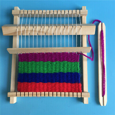 Wooden Weaving Loom Craft Yarn DIY Hand Knitting Machine Kids Educational Toy jf
