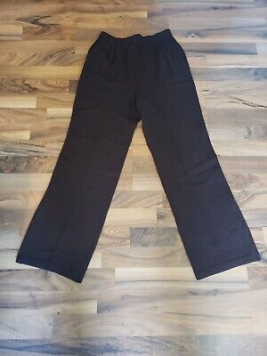 ST JOHN Collection Santana Knit High Rise Pleated Trousers Dark Brown Womens 4
