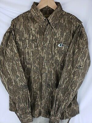 Mossy Oak Men's Cotton Mill Hunt Camouflage Hunting Shirt Sz Small #90001 NWOT
